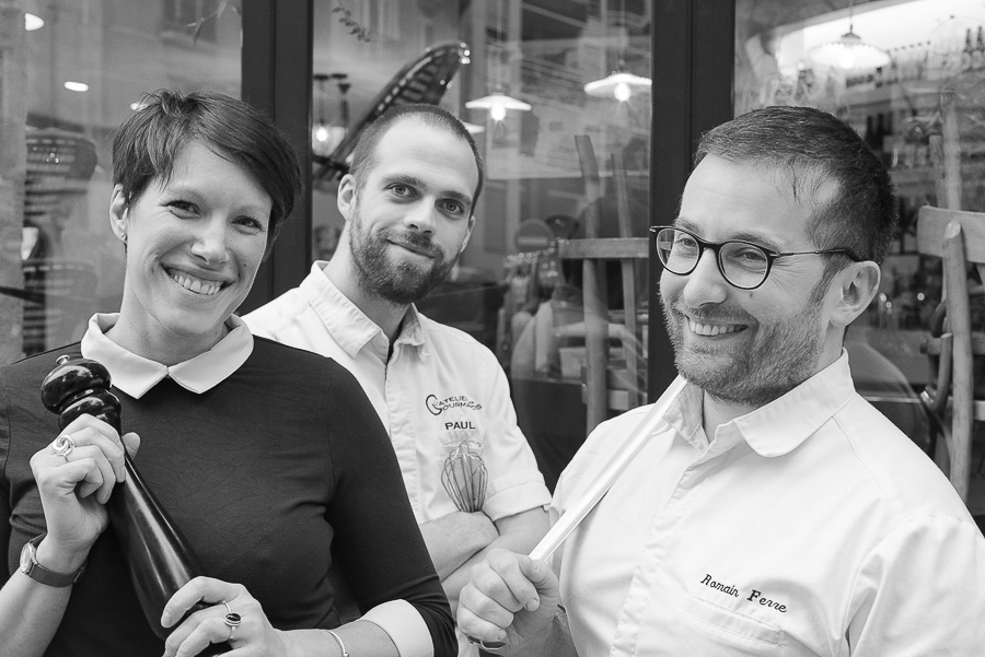 Virginie, Paul et Romain de l'Atelier des Gourmands, Paris